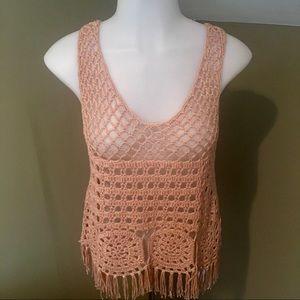 New Women's Crochet Sleeveless Top/SZ S-M